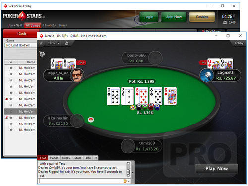 آدرس سایت PokerStars