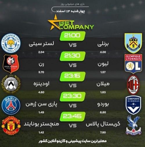 پیش بینی فوتبال سایت Betcompany